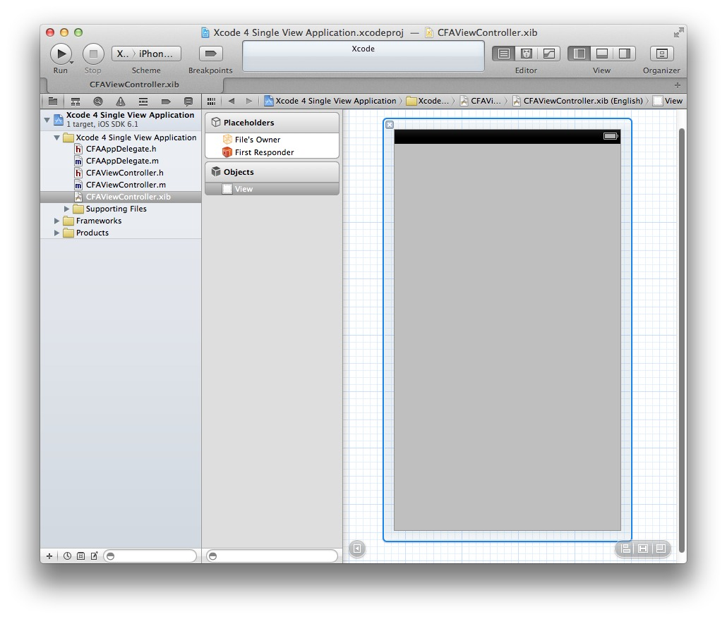 Xcode 4 Single View Application