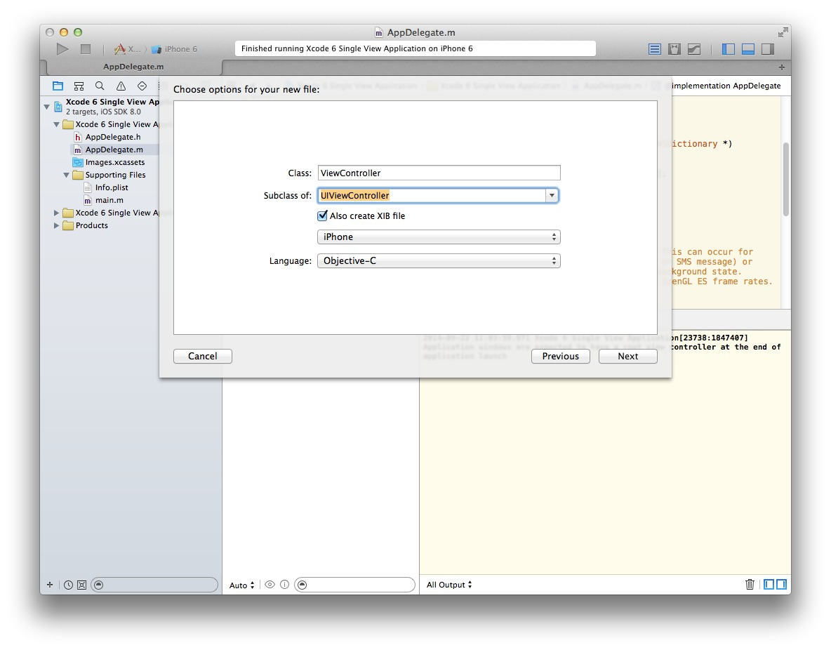 Xcode 6 Add View Controller 2