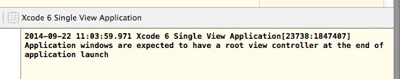 Xcode 6 Root View Controller Warning